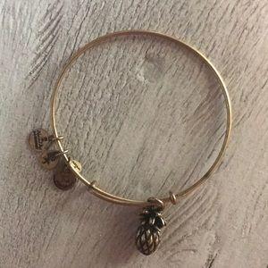Alex and Ani Jewelry - Alex & Ani Pineapple Charm Bracelet